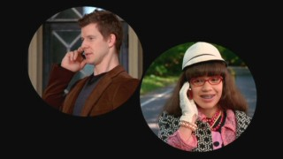 In one of many split-screen phone call scenes, Betty (America Ferrera) finally manages to reach Daniel (Eric Mabius) while he's away on a meeting.