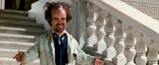 "Peter Dinklage plays the evil Dr. Simon Barsinister and the word ""frightening"" comes to mind, but only visually."