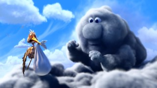 "The winning theatrical short ""Partly Cloudy"" centers on a baby-making cloud named Gus and his put-upon delivery stork Peck."