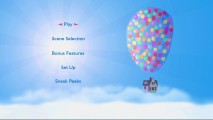 "The DVD's attractive main menu shows us what ""Up"" might look like as a stylized children's book."