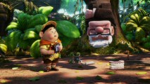 "Much to Carl's chagrin, he ends up in Russell's snipe trap in one of the clips from the ""Up"" Promo Montage."