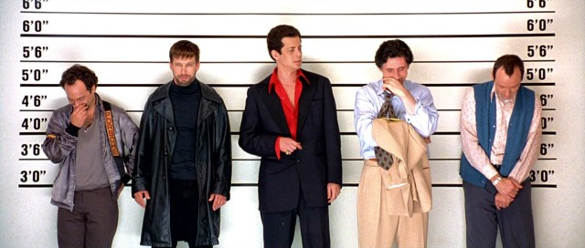 "The concept from which the film was born and with which it has always been marketed, this five criminal line-up remains the most iconic image of ""The Usual Suspects"", while also aiding celebrity height trackers."