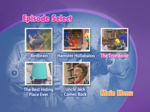The Episode Selection menu.