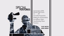The Special Features menu employs a bit of film score but doesn't bother with animation. The silhouette seen here is that of Forest Whitaker.