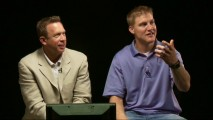 "Mark Ellis and NFL quarterback Josh McCown look at film footage and comment in ""QB Game Analysis."""