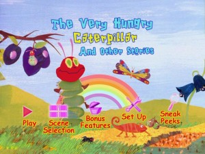 "The Main Menu for ""The Very Hungry Caterpillar and Other Stories."""