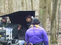 "On location footage of production in ""Shooting The Village."""
