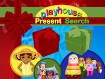The Playhouse Present Search game title screen.
