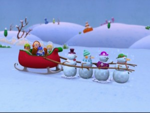 Dancing snowmen come to the Higglytown gang's rescue.