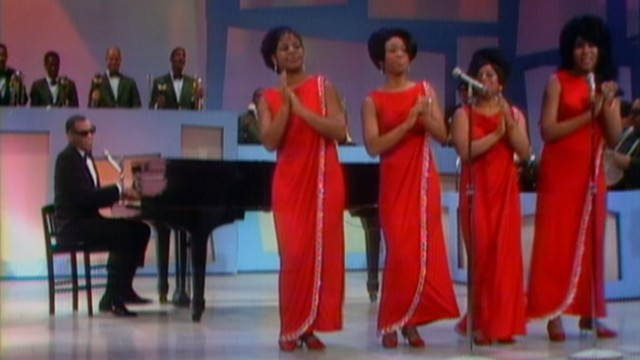 "Since Ray Charles already got an Oscar-winning biopic, ""Twenty Feet from Stardom"" turns our attentions to the background singers, who unusually occupy the foreground of this television shot."