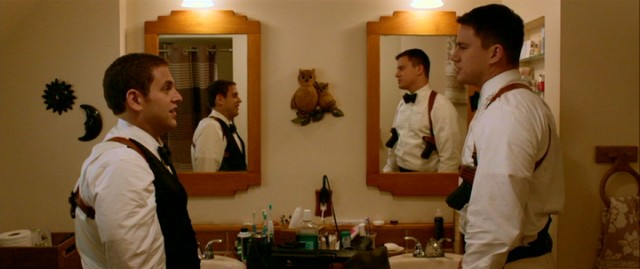 "For the ""McQuaid Brothers"" (Jonah Hill, Channing Tatum), getting dressed for prom includes concealed weapons and bulletproof vests."