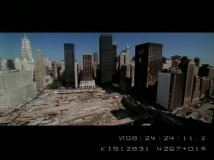 "Crews at work on the gaping hole left behind by the Twin Towers are seen in ""Ground Zero -- A Tribute."""