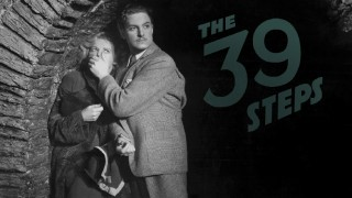 "Hannay (Robert Donat) silences a woman (Madeleine Carroll) on Criterion's ""The 39 Steps"" Blu-ray menu."