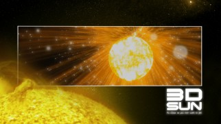 Sun bursts to represent 3D Sun on the Blu-ray's menu.