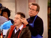 "The one and only Phil Hartman gives Harry a scalp massage in ""Lonely Dick."""