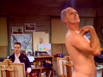 "Harry's painting skills are put to the test by Dick's nude modeling in ""The Art of Dick."""