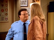 "Hello, Newman! Wayne Knight begins his series-long stint as Sally's love interest Officer Don in ""Assault with a Deadly Dick."""