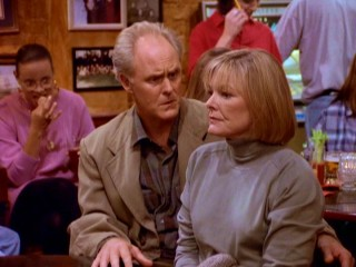 Dick's (John Lithgow) romantic pursuit of colleague Mary Albright (Jane Curtin) pervades the series and seems to hold at least one bar patron captive.