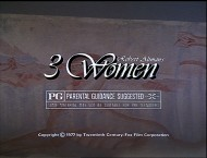"This TV spot is one of four pieces of original ""3 Women"" promotion presented on Blu-ray in varying HD quality."