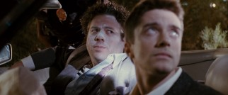 Barry (Dan Fogler) and Matt (Topher Grace) have their lapse in automotive judgment met by the law, specifically Matt's cop father.