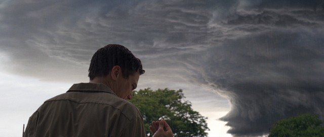 "Tut tut, looks like rain for Curtis LaForche (Michael Shannon) and his family in #55, ""Take Shelter."""