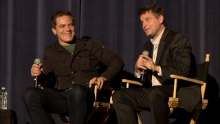 At a SAG Foundation screening, Michael Shannon and Shea Whigham answer the questions of a host and the audience.