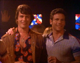 Brian (Paul Gross) and Michael (Marcus D'Amico) go looking for straight women and gay men together in Episode 5.
