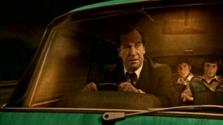 "A Dad (Bill Paterson) drives his family around on vacations in Robert Bradbrook's 2002 short ""Home Road Movies."""