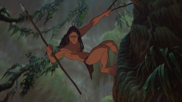 Jungle apes are safer with Tarzan looking out for them.