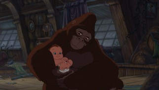 After losing a child, the ape Kala adopts baby Tarzan as her own.