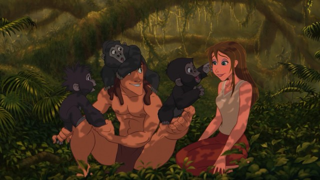 Tarzan arranges for Jane to observe the apes she and her father have come to Africa to research.