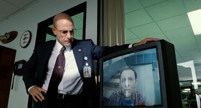Acting field commissioner Frank Dixon (Stanley Tucci) grows increasingly annoyed by Viktor's willingness to accept being stuck in the airport.