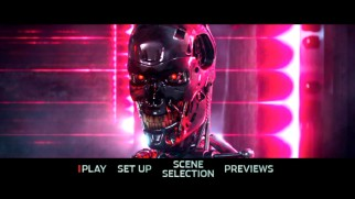 The iconic metallic Terminator skeleton makes an appearance on the Terminator Genisys DVD main menu.