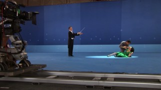 "Some blue screen ballet is shot for ""Tetro."""
