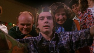 Eric Forman (Topher Grace) doesn't feign much excitement over his expected surprise birthday party.