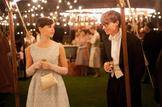"""The Theory of Everything"" stars Felicity Jones and Eddie Redmayne as Jane and Stephen Hawking."