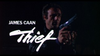 James Caan: Thief reads the title card of this original 1981 theatrical trailer.