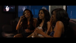 The ladies (Gabrielle Union, Regina Hall, and Taraji P. Henson) are amused by their new white friend Tish's attempt to get wild in this deleted scene.