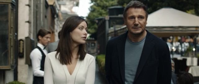 """Third Person"" stars Liam Neeson as Michael Leary, a Pulitzer Prize-winning novelist abroad with a significantly younger girlfriend (Olivia Wilde)."