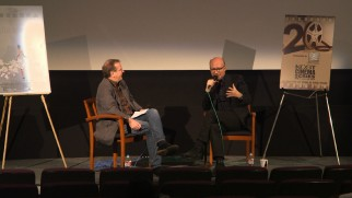 Paul Haggis' KCET Cinema Series Q & A leaves the camera fixed at this distance.