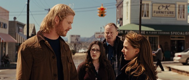 In the small, sleepy town of Puente Antiguo, New Mexico, Thor (Chris Hemsworth) finds friends in Darcy (Kat Dennings), Erik (Stellan Skarsgård), and, most of all, Jane Foster (Natalie Portman).