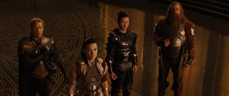 "Brave though they may be, Lady Sif and the Warriors Three inject levity into ""Thor."""