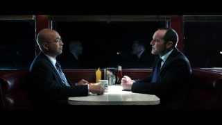 "The bulk of the original short ""Marvel One-Shot: The Consultant"" consists of this nighttime diner chat between Agents Sitwell (Maximiliano Hernández) and Coulson (Clark Gregg)."
