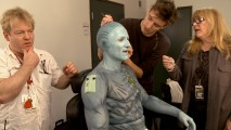 "Actor Colm Feore gets transformed into the Frost Giants' king in ""Creating Laffey."""