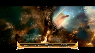 The combo pack's DVD may drop bonus features, but gladly not this celestial animated menu depicting Thor's hammer's journey through space.