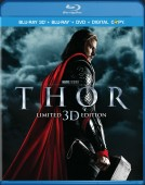 Thor: Limited 3D Edition (Blu-ray 3D + Blu-ray + DVD + Digital Copy) combo pack cover art - click to buy from Amazon.com