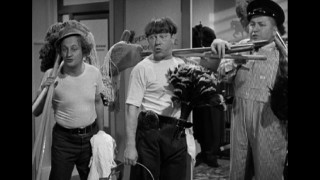 "Short clips of classic Three Stooges shorts appear in ""What's the Big Idea? A History of The Three Stooges."""