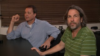 "Writers-directors Bobby and Peter Farrelly demonstrate the comic value of slapstick sound effects in their ""Did You Hear That?"" demonstration."
