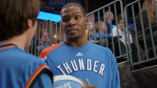 "Kevin Durant plays himself in the family comedy ""Thunderstruck."""