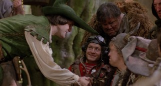 Robin Hood (John Cleese) greets the Time Bandits like a well-intentioned but clueless royal.